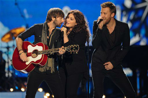 "<div class=""meta ""><span class=""caption-text "">Lady Antebellum peforms during the American Country Awards on Monday, Dec. 10, 2012, in Las Vegas. (Photo by Al Powers/Powers Imagery/Invision/AP) (Photo/Al Powers)</span></div>"