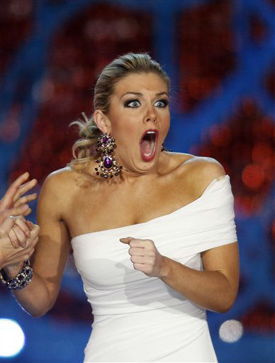 Miss New York Mallory Hytes Hagan reacts as she is announced Miss America 2013 on Saturday, Jan. 12, 2013, in Las Vegas.   <span class=meta>(AP Photo&#47; Isaac Brekken)</span>