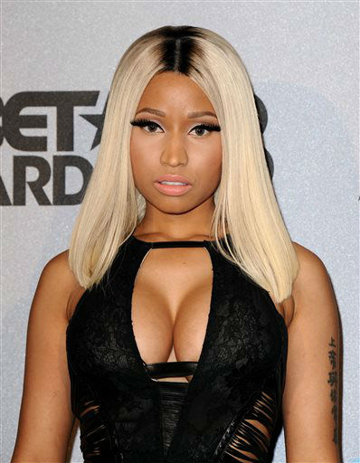 "<div class=""meta image-caption""><div class=""origin-logo origin-image ""><span></span></div><span class=""caption-text"">Nicki Minaj poses backstage at the BET Awards at the Nokia Theatre on Sunday, June 30, 2013, in Los Angeles. (Photo by Scott Kirkland/Invision/AP) (AP Photo/ Scott Kirkland)</span></div>"