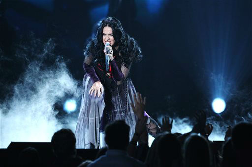 "<div class=""meta ""><span class=""caption-text "">Katy Perry performs ""Dark Horse"" at the 56th annual Grammy Awards at Staples Center on Sunday, Jan. 26, 2014, in Los Angeles. (Photo by Matt Sayles/Invision/AP) (Photo/Matt Sayles)</span></div>"