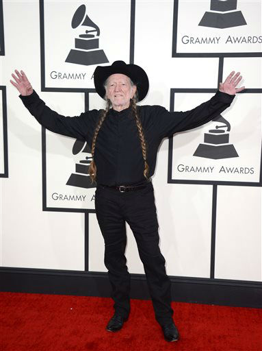 "<div class=""meta image-caption""><div class=""origin-logo origin-image ""><span></span></div><span class=""caption-text"">Willie Nelson arrives at the 56th annual GRAMMY Awards at Staples Center on Sunday, Jan. 26, 2014, in Los Angeles.  (Photo/Jordan Strauss)</span></div>"