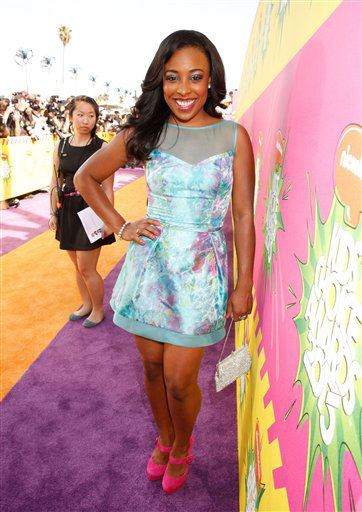 "<div class=""meta ""><span class=""caption-text ""> Actress Tanya Chisholm arrives at the 26th annual Nickelodeon's Kids' Choice Awards on Saturday, March 23, 2013, in Los Angeles. (AP photo)</span></div>"