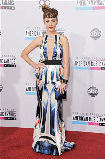 "<div class=""meta image-caption""><div class=""origin-logo origin-image ""><span></span></div><span class=""caption-text"">Amy Heidemann arrives at the 40th Anniversary American Music Awards on Sunday, Nov. 18, 2012, in Los Angeles. (Photo by Jordan Strauss/Invision/AP)</span></div>"