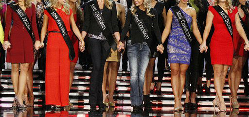 Contestants compete in the Miss America 2013 pageant on Saturday, Jan. 12, 2013, in Las Vegas.   <span class=meta>(AP Photo&#47; Isaac Brekken)</span>