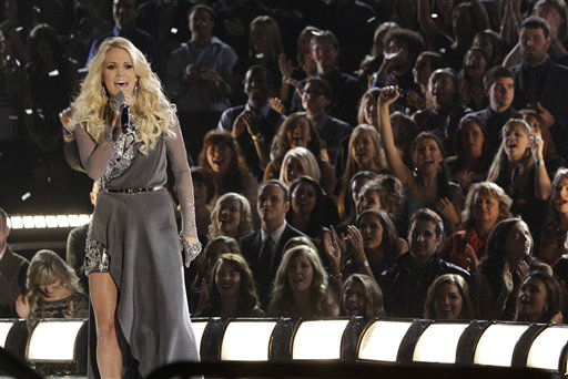 "<div class=""meta ""><span class=""caption-text "">Carrie Underwood performs onstage at the 46th Annual Country Music Awards at the Bridgestone Arena on Thursday, Nov. 1, 2012, in Nashville, Tenn.  (Photo/Wade Payne)</span></div>"