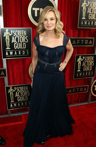 "<div class=""meta image-caption""><div class=""origin-logo origin-image ""><span></span></div><span class=""caption-text"">Actress Jessica Lange arrives at the 19th Annual Screen Actors Guild Awards at the Shrine Auditorium in Los Angeles on Sunday, Jan. 27, 2013. (Photo by Matt Sayles/Invision/AP) (Photo/Matt Sayles)</span></div>"