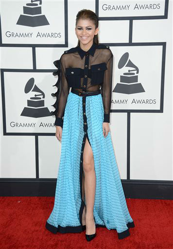 "<div class=""meta image-caption""><div class=""origin-logo origin-image ""><span></span></div><span class=""caption-text"">Zendaya arrives at the 56th annual Grammy Awards at Staples Center on Sunday, Jan. 26, 2014, in Los Angeles.  (Photo/Jordan Strauss)</span></div>"