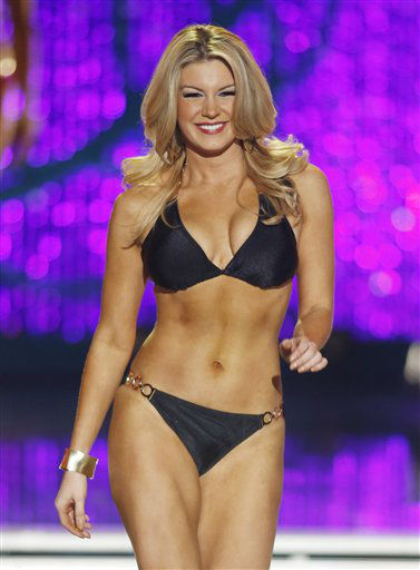 Miss New York Mallory Hytes Hagan competes in the swimsuit portion of the Miss America 2013 pageant on Saturday, Jan. 12, 2013, in Las Vegas.  <span class=meta>(AP Photo&#47; Isaac Brekken)</span>