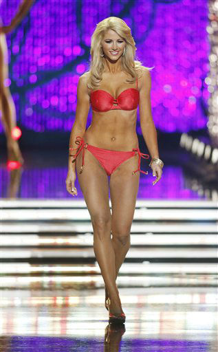 "<div class=""meta ""><span class=""caption-text "">Miss Florida Laura McKeeman competes in the swimsuit portion of the Miss America 2013 pageant on Saturday, Jan. 12, 2013, in Las Vegas.  (AP Photo/ Isaac Brekken)</span></div>"