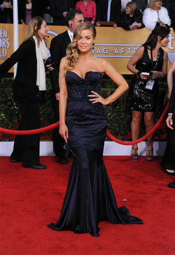 Actress Carmen Electra arrives at the 19th Annual Screen Actors Guild Awards at the Shrine Auditorium in Los Angeles on Sunday, Jan. 27, 2013. &#40;Photo by Jordan Strauss&#47;Invision&#47;AP&#41; <span class=meta>(Photo&#47;Jordan Strauss)</span>