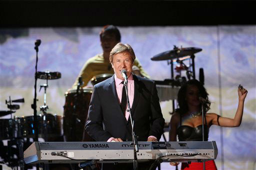 Peter Cetera of Chicago performs a medley on stage at the 56th annual Grammy Awards at Staples Center on Sunday, Jan. 26, 2014, in Los Angeles. &#40;Photo by Matt Sayles&#47;Invision&#47;AP&#41; <span class=meta>(Photo&#47;Matt Sayles)</span>