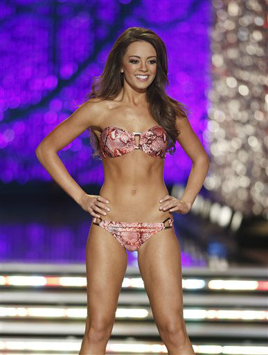Miss Kentucky Jessica Casebolt competes in the swimsuit portion of the Miss America 2013 pageant on Saturday, Jan. 12, 2013, in Las Vegas.  <span class=meta>(AP Photo&#47; Isaac Brekken)</span>