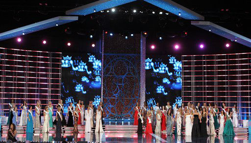 "<div class=""meta ""><span class=""caption-text "">Contestants compete in the Miss America 2013 pageant on Saturday, Jan. 12, 2013, in Las Vegas.   (AP Photo/ Isaac Brekken)</span></div>"