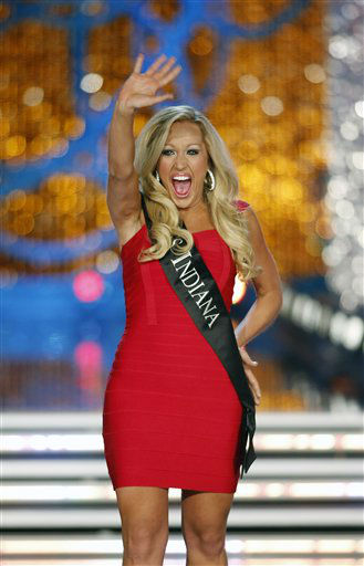"<div class=""meta ""><span class=""caption-text "">Miss Indiana MerrieBeth Cox competes in the Miss America pageant on Saturday, Jan. 12, 2013, in Las Vegas.   (AP Photo/ Isaac Brekken)</span></div>"
