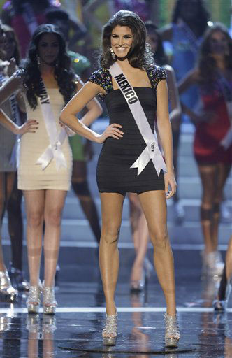Miss Mexico Karina Gonzalez reacts as she is announced as one of the final 16 contestants during the Miss Universe pageant, Wednesday, Dec. 19, 2012, in Las Vegas.  <span class=meta>(AP Photo&#47; Julie Jacobson)</span>
