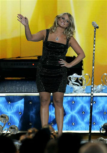 Miranda Lambert performs &#34;Mama&#39;s Broken Heart&#34; at the 48th Annual Academy of Country Music Awards at the MGM Grand Garden Arena in Las Vegas on Sunday, April 7, 2013.  <span class=meta>(AP photo)</span>