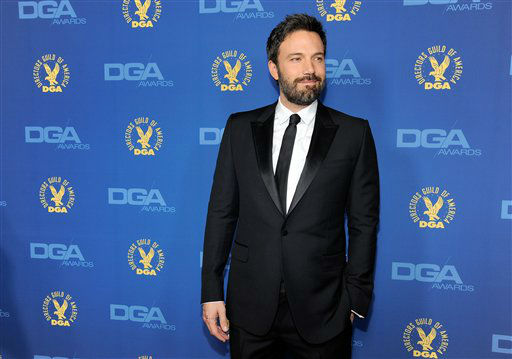 "<div class=""meta ""><span class=""caption-text "">Ben Affleck arrives at the 65th Annual Directors Guild of America Awards at the Ray Dolby Ballroom on Saturday, Feb. 2, 2013, in Los Angeles. (Photo by Chris Pizzello/Invision/AP)</span></div>"