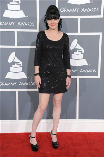"<div class=""meta ""><span class=""caption-text "">Pauley Perrette arrives at the 55th annual Grammy Awards on Sunday, Feb. 10, 2013, in Los Angeles.  (AP photo)</span></div>"