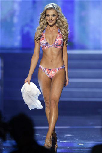Melinda Bam, Miss South Africa, competes in the swimsuit portion of the Miss Universe competition, Wednesday, Dec. 19, 2012, in Las Vegas.  <span class=meta>(AP Photo&#47; Julie Jacobson)</span>