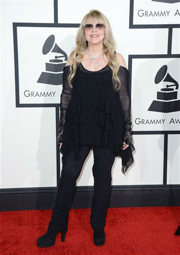"<div class=""meta ""><span class=""caption-text "">Stevie Nicks arrives at the 56th annual GRAMMY Awards at Staples Center on Sunday, Jan. 26, 2014, in Los Angeles.  (Photo/Jordan Strauss)</span></div>"