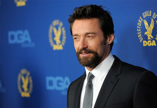Hugh Jackman arrives at the 65th Annual Directors Guild of America Awards at the Ray Dolby Ballroom on Saturday, Feb. 2, 2013, in Los Angeles. (Photo by Chris Pizzello/Invision/AP)