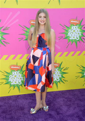 Actress Peyton R. List arrives at the 26th annual Nickelodeon&#39;s Kids&#39; Choice Awards on Saturday, March 23, 2013, in Los Angeles. &#40;Photo by Jordan Strauss&#47;Invision&#47;AP&#41; <span class=meta>(Photo&#47;Jordan Strauss)</span>
