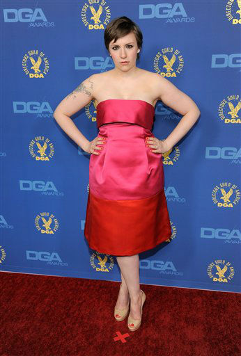 "<div class=""meta ""><span class=""caption-text "">Lena Dunham arrives at the 65th Annual Directors Guild of America Awards at the Ray Dolby Ballroom on Saturday, Feb. 2, 2013, in Los Angeles. (Photo by Chris Pizzello/Invision/AP)</span></div>"