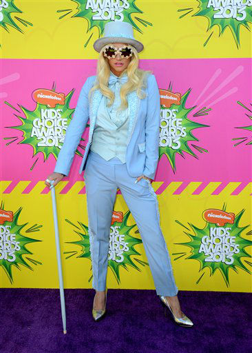 Singer Ke&#36;ha arrives at the 26th annual Nickelodeon&#39;s Kids&#39; Choice Awards on Saturday, March 23, 2013, in Los Angeles. &#40;Photo by Jordan Strauss&#47;Invision&#47;AP&#41; <span class=meta>(Photo&#47;Jordan Strauss)</span>