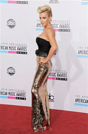 Jenny McCarthy arrives at the 40th Anniversary American Music Awards on Sunday, Nov. 18, 2012, in Los Angeles. (Photo by Jordan Strauss/Invision/AP)
