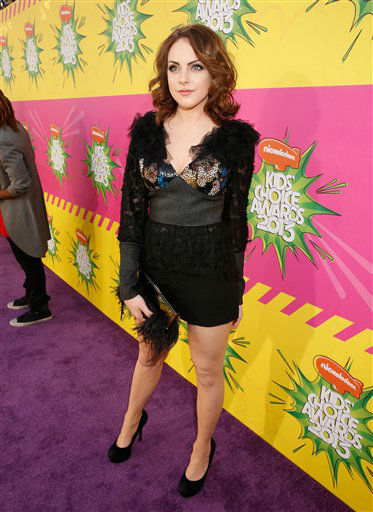 "<div class=""meta ""><span class=""caption-text "">Elizabeth Gillies arrives at the 26th annual Nickelodeon's Kids' Choice Awards on Saturday, March 23, 2013, in Los Angeles.  (AP photo)</span></div>"