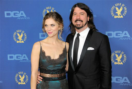 Dave Grohl, right, and Jordyn Blum arrive at the 65th Annual Directors Guild of America Awards at the Ray Dolby Ballroom on Saturday, Feb. 2, 2013, in Los Angeles. &#40;Photo by Chris Pizzello&#47;Invision&#47;AP&#41; <span class=meta>(Photo&#47;Chris Pizzello)</span>
