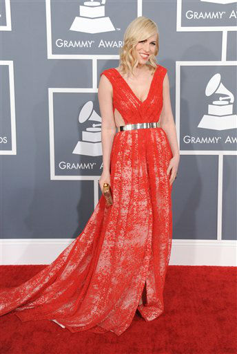 Natasha Bedingfield arrives at the 55th annual Grammy Awards on Sunday, Feb. 10, 2013, in Los Angeles.  <span class=meta>(AP photo)</span>