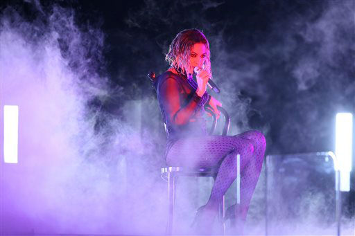 "<div class=""meta ""><span class=""caption-text "">Beyonce performs ""Drunk in Love"" at the 56th annual Grammy Awards at Staples Center on Sunday, Jan. 26, 2014, in Los Angeles.   (Photo/Matt Sayles)</span></div>"