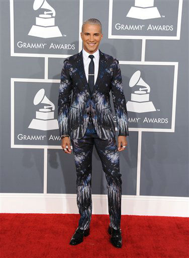 Jay Manuel arrives at the 55th annual Grammy Awards on Sunday, Feb. 10, 2013, in Los Angeles. <span class=meta>(AP photo)</span>