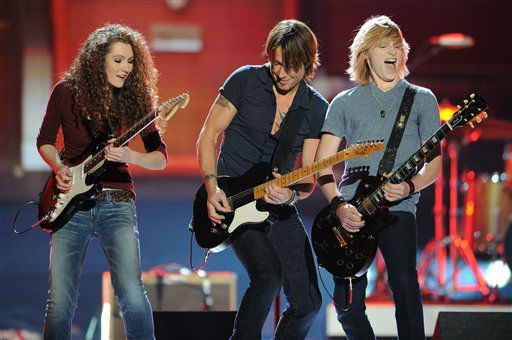 Keith Urban and the Grammy Camp Band perform during the American Country Awards on Monday, Dec. 10, 2012, in Las Vegas. &#40;Photo by Al Powers&#47;Powers Imagery&#47;Invision&#47;AP&#41; <span class=meta>(Photo&#47;Al Powers)</span>