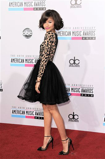 Zendaya Coleman arrives at the 40th Anniversary American Music Awards on Sunday, Nov. 18, 2012, in Los Angeles. (Photo by Jordan Strauss/Invision/AP)