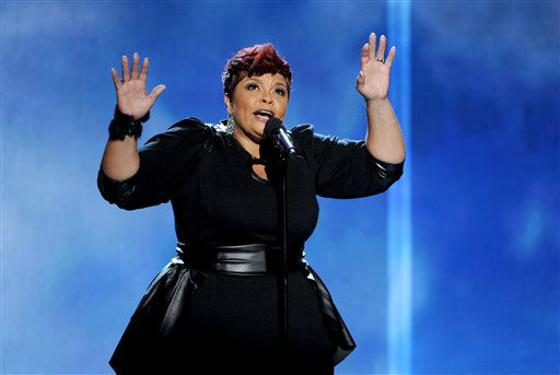 Tamela Mann performs onstage at the BET Awards at the Nokia Theatre on Sunday, June 30, 2013, in Los Angeles. &#40;Photo by Frank Micelotta&#47;Invision&#47;AP&#41; <span class=meta>(AP Photo&#47; Frank Micelotta)</span>