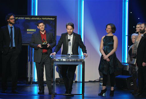 "<div class=""meta ""><span class=""caption-text "">Musical group eighth blackbird accept the award for chamber music/small ensemble performance for ""Meanwhile"" at the 55th annual Grammy Awards on Sunday, Feb. 10, 2013, in Los Angeles.  (AP photo)</span></div>"