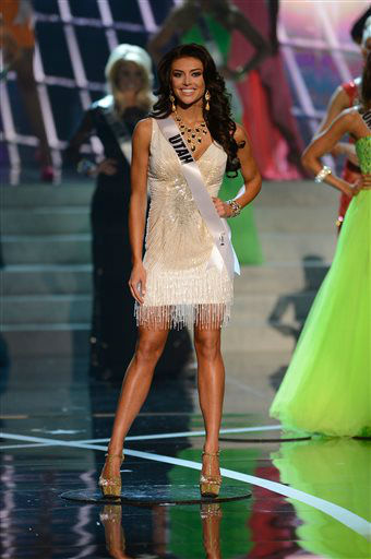 Miss Utah Marissa Powell walks the runway during the introductions of the Miss USA 2013 pageant, Sunday, June 16, 2013, in Las Vegas.   <span class=meta>(AP Photo&#47; Jeff Bottari)</span>