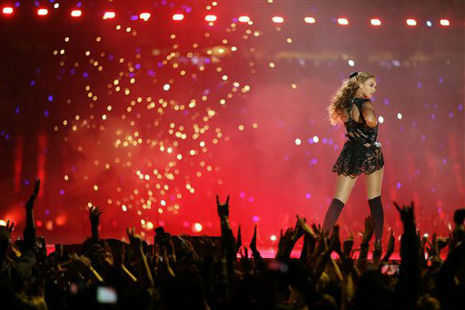 Beyonce performs during the halftime show of  the NFL Super Bowl XLVII football game between the San Francisco 49ers and the Baltimore Ravens Sunday, Feb. 3, 2013, in New Orleans.   <span class=meta>(AP Photo&#47; David Goldman)</span>