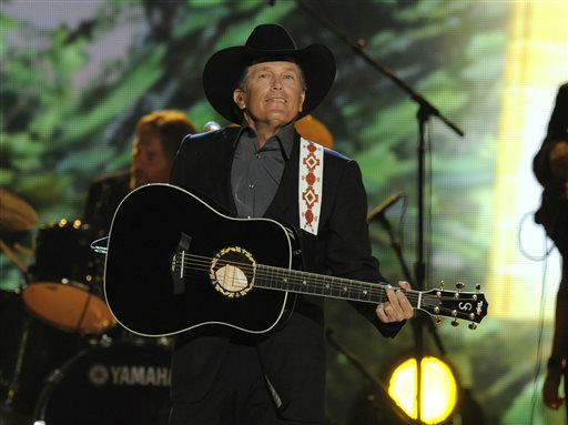 Singer George Strait performs at the 48th Annual Academy of Country Music Awards at the MGM Grand Garden Arena in Las Vegas on Sunday, April 7, 2013.  <span class=meta>(AP photo)</span>