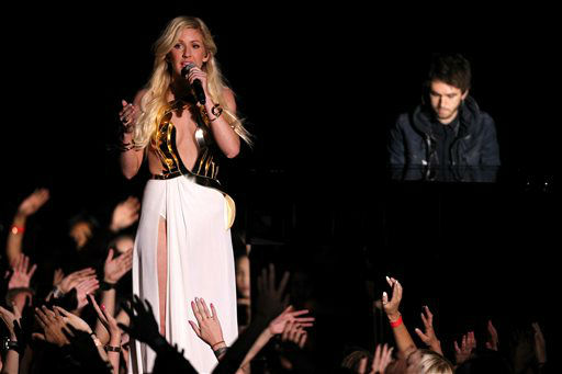 "<div class=""meta image-caption""><div class=""origin-logo origin-image ""><span></span></div><span class=""caption-text"">Ellie Goulding performs on stage at the MTV Movie Awards on Sunday, April 13, 2014, at Nokia Theatre in Los Angeles.  (Photo/Matt Sayles)</span></div>"