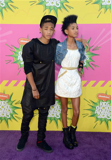 Jayden Smith, left, and Willow Smith arrive at the 26th annual Nickelodeon&#39;s Kids&#39; Choice Awards on Saturday, March 23, 2013, in Los Angeles. &#40;Photo by Jordan Strauss&#47;Invision&#47;AP&#41; <span class=meta>(Photo&#47;Jordan Strauss)</span>
