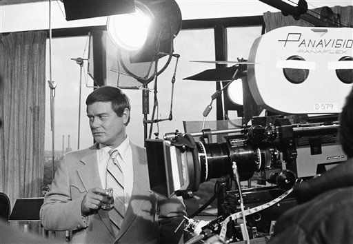 Actor Larry Hagman on the set of his TV series  &#39;Dallas&#39; on Feb. 2, 1979.   <span class=meta>(AP Photo&#47; George Brich)</span>