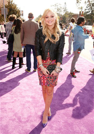 "<div class=""meta ""><span class=""caption-text ""> Olivia Holte arrives at the 26th annual Nickelodeon's Kids' Choice Awards on Saturday, March 23, 2013, in Los Angeles.  (AP photo)</span></div>"