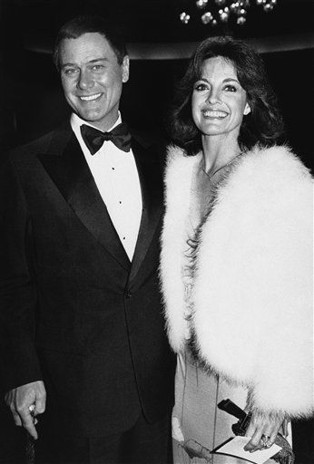 Actor Larry Hagman and actress Linda Grey, from the television show  &#39;Dallas&#39; arrive for the People&#39;s Choice Awards&#39; at the Hollywood Palladium in Los Angeles on Thursday, Jan. 24, 1980.    &#40;AP Photo&#47; Lennox Mclendon&#41; <span class=meta>(AP Photo&#47; Lennox Mclendon)</span>