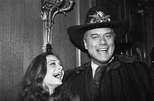 Mary Crosby and Larry Hagman of the  &#39;Dallas&#39; television series share a laugh during cast party in a Los Angeles restaurant on Friday, Nov. 22, 1980.   While the party was going on, the rest of the country and the world learned that Kristin Shepard, played by Miss Crosby, was the one who shot the infamous &#39;J. R.&#39;, played by Hagman.   <span class=meta>(AP Photo&#47; Rasmusssen)</span>
