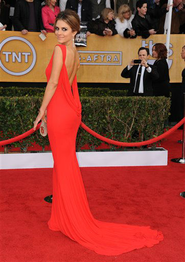 Actress Maria Menounos arrives at the 19th Annual Screen Actors Guild Awards at the Shrine Auditorium in Los Angeles on Sunday, Jan. 27, 2013. &#40;Photo by Jordan Strauss&#47;Invision&#47;AP&#41; <span class=meta>(Photo&#47;Jordan Strauss)</span>