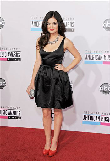 Lucy Hale arrives at the 40th Anniversary American Music Awards on Sunday, Nov. 18, 2012, in Los Angeles. (Photo by Jordan Strauss/Invision/AP)
