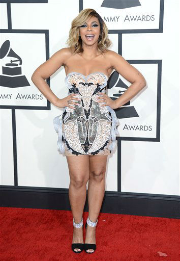 Ashanti arrives at the 56th annual GRAMMY Awards at Staples Center on Sunday, Jan. 26, 2014, in Los Angeles. &#40;Photo by Jordan Strauss&#47;Invision&#47;AP&#41; <span class=meta>(Photo&#47;Jordan Strauss)</span>